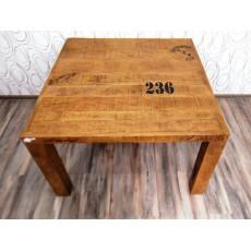 Jídelní stůl SHEFFIELD 19839A 78x120x120 cm mango masiv