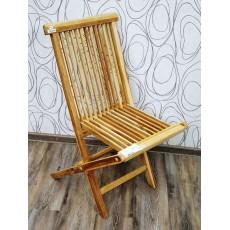 Zahradní židle MILFORD skládací 20489A 91x48x60 cm teakové dřevo