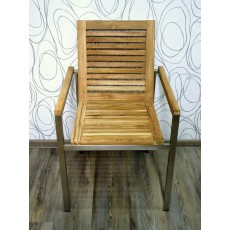 Zahradní židle TEAKLINE 15095A 86x58x55 cm tekové dřevo