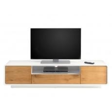 Skříňka pod TV BOGE I 20642A 40x170x40 cm MDF dekor dub barva bílá