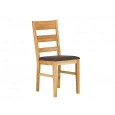 Jídelní židle CHARLES 19210A 100x54x51 cm dřevo imitace kůže