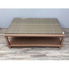Zahradní stolek 20740A 90x140 cm polyratan sklo