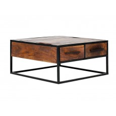 Konferenční stolek OKLAHOMA 20742A 40x80x80 cm akácie masiv kov