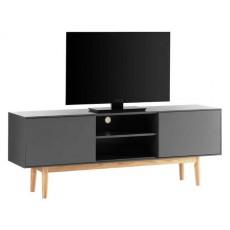 Skříňka pod TV LINDHOLM 20856A 59x180x40 cm dub masiv dřevolaminát MDF