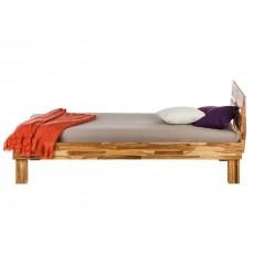 Manželská postel ARESWOOD 21182A 75x206x126 cm dub masiv tmavý