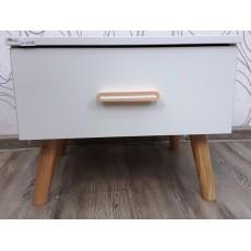 Noční stolek ANNETT 21101A 38x47x49 cm dřevolaminát dřevo