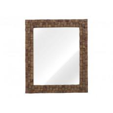 Zrcadlo ABADI FLUR 21376A 76x63x5 cm dřevo mango masiv