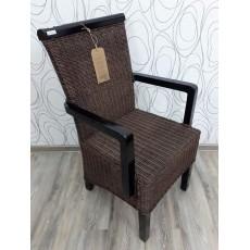 Jídelní židle s područkami 21380A 95x52x56 cm dřevo pinie ratan