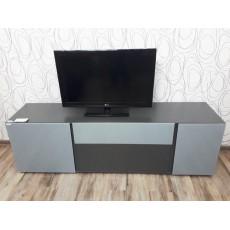 Skříňka pod TV MESSA II 21440 A 43x180x55 cm dřevolaminát barva stříbrošedá grafitová