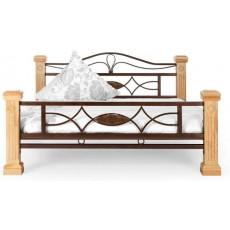 Postel BYZANZ 21597A 40x235x217 cm dřevo kaučukovník MDF kov