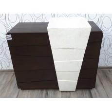 Skříňka s umyvadlem  DEL MARE V 21406A 80x100x46 cm teakové dřevo umělý kámen