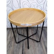 Odkládací stolek HOFMANN 22239A 50x48 cm MDF ohýbané dřevo kov
