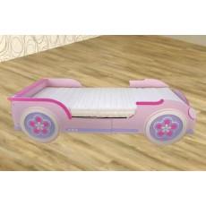 Dětská postel auto 11158 růžová dřevolaminát