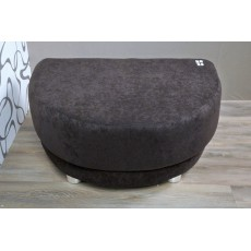 Hnědý taburet 10367AB textilie