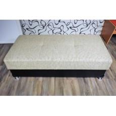 Šedočerný taburet 10554AB imitace kůže textilie