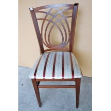 Kuchyňská čalouněná židle 8339A bordó 92x34x44 cm dřevo textilie
