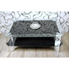 Konferenční stolek 10570A 3590 44x110x70 cm sklo kov