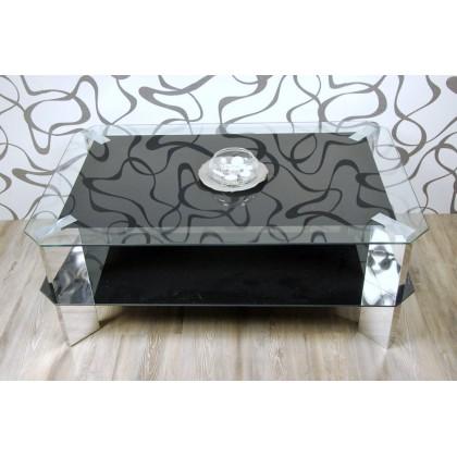 Konferenční stolek, sklo/ kov (10570A) (3590)