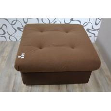 Hnědý taburet 10362AB imitace kůže textilie