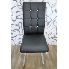 Jídelní židle 8385A103x40x52 cm černá koženka