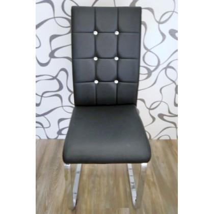 Čalouněná židle koženka/ kov (8385A)