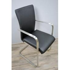 Čalouněná židle 11809A 97x52x55 cm imitace kůže kov
