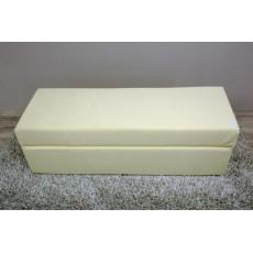 Smetanový taburet 8668A textilie