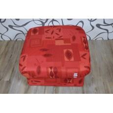 Hnědočervený taburet 10519A mikroplyš