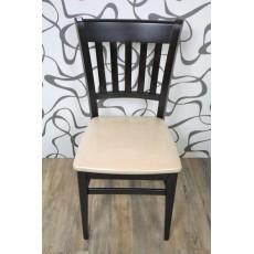Kuchyňská čalouněná židle 9894A hnědá 92x43x43 cm masivní dřevo textilie
