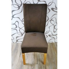 Jídelní čalouněná židle 9588A hnědá 100x45x55 cm imitace kůže dřevo