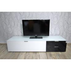 Skříňka pod TV 14892A 35x164x50 cm dřevolaminát sklo