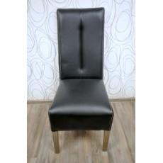 Jídelní židle 11955A 107x42x52 cm dřevo imitace kůže