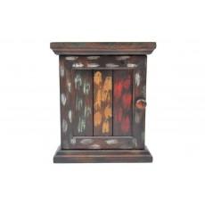 Závěsná skříňka na klíče 15031A 30x22x9 cm dřevo masiv