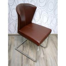 Čalouněná židle 15155A 85x38x55 cm kov koženka barva hnědá