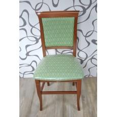 Jídelní židle 10195A hnědá zelená 95x46x44 cm mořený buk textilie