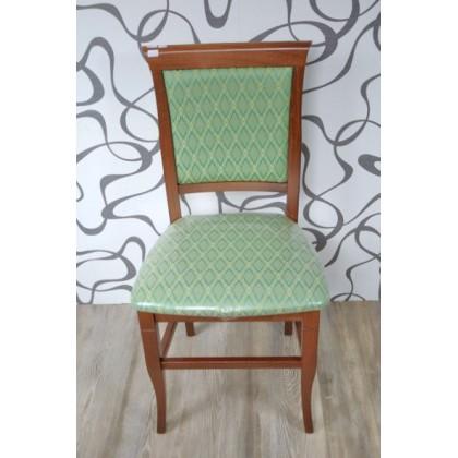 Čalouněná židle textilie/dřevo (10195A)