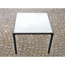 Zahradní čtvercový stůl 15164A 74x90x90 cm polyratan sklo