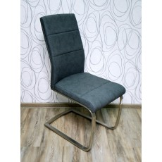 Čalouněná židle 15107A 100x40x65 cm mikroplyš kov