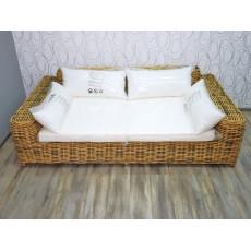 Křeslo sofa Limoges 65x230x130 cm proutí textilie
