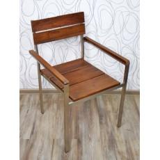 Zahradní židle 15238A 87x55x60 cm teak nerez