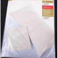 Povlaky na polštáře 2 ks 48x80 cm bavlna barva bílá