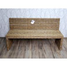 Zahradní lavice 15390A 80x150x52 cm ratan