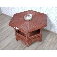 Konferenční stolek 15409A, mořený ratan