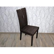 Jídelní židle 15428A, 106x46x50 cm, mořené dřevo, ratan