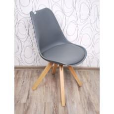 Jídelní židle 15205A, 83x46x55 cm, dřevo, plast, imitace kůže