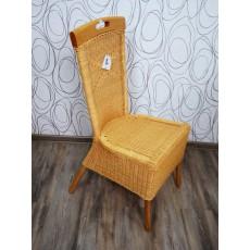 Jídelní židle 15394A, 102x47x60 cm, dřevo, ratan