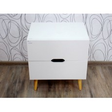 Noční stolek WAKEFIELD 15614A, 55x50x40 cm, MDF deska