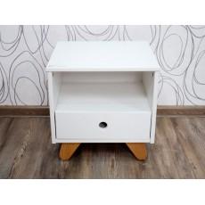 Noční stolek INDIANA 15613A, 40x40x35 cm, dřevo masiv, MDF deska