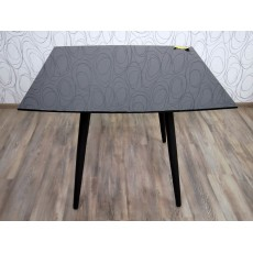 Jídelní stůl rozkládací ATASSU 15640A 75x100x100 a 180 cm sklo kov