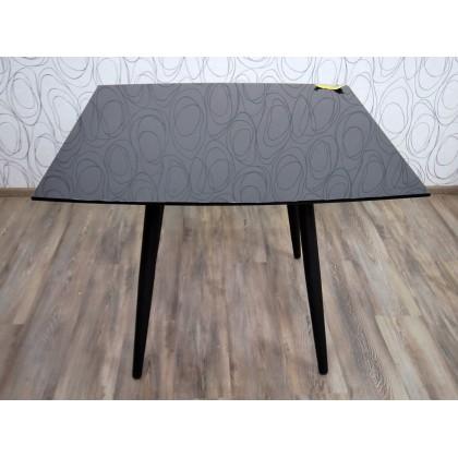 Jídelní stůl rozkládací ATASSU 15640A, 75x100x100/180 cm, sklo, kov